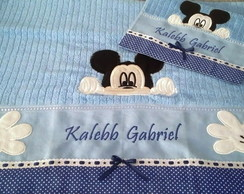 Kit de toalhas Bordado Mickey
