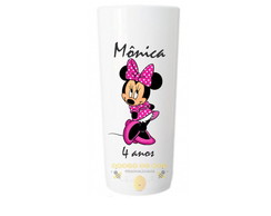 Copo Long Drink Minnie Rosa Personalizada mod1