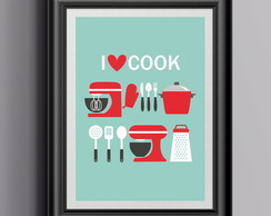 Poster A4 - Love cook