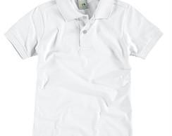 370d589536 Camisa Branca Gola Polo Infantil