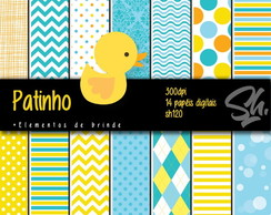 Kit Scrapbook Papel Digital SH120 - Patinho