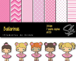Kit Scrapbook Papel Digital SH130 bailarinas