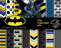 Kit Scrapbook Papel Digital SH140 Batman