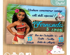 Convite Digital Moana Whatsapp