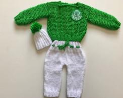 ... Conjunto em tricô feito a mão de time de futebol c2d5a8e5f8ba0
