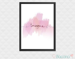 Quadro Decorativo com Moldura - Imagine