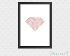Quadro Decorativo com Moldura - Diamante