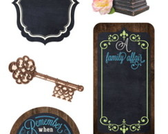Adesivo 3D Chalkboard Stickers Family