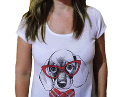 Camiseta Feminina Pet Basset fashion