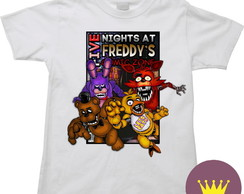 Camiseta Infantil Five Nights at Freddy's 34