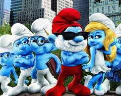 Painel 2x1 Smurf