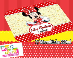 Tampa Personalizada para Marmitinha 220ml Festa do Minnie