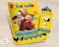 Kit colorir com giz de cera Snoopy