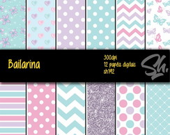 Kit Scrapbook Papel Digital SH192 Bailarina