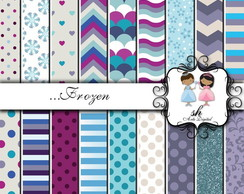 Kit Scrapbook Papel Digital SH209 Frozen