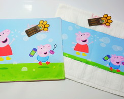 Kit Lanche Escolar- Peppa e Jorge