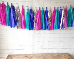 Tassel Garland Franjas COLORS Tiffany e Pink