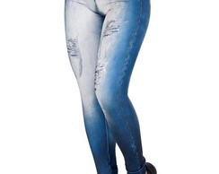 Calça Fitness Fake Jeans Julih