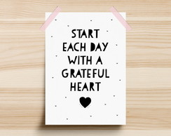 Poster Start Each Day With A Grateful Heart