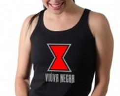 ... Camiseta Regata Viúva Negra Estampada Feminina c9b8837fe71ea