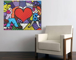 Quadro Decorativo Tela Canvas - Romero Brito - RB09C1