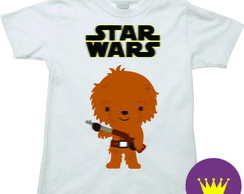 Camiseta Infantil Star Wars chewbacca 03