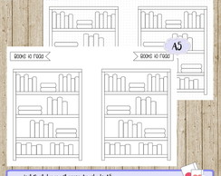 Kit Digital - Planner Argolado A5 Book to Read Simples