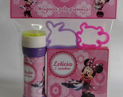 Kit Massinha + 2 Moldes + Bolha de Sabão Minnie Rosa