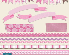 Kit Digital Scrapbook Bordas 13