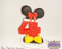 Vela de Biscuit Tema Minnie