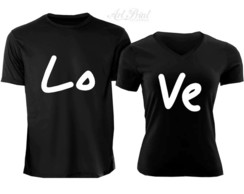 Kit 2 Camisetas Love Casal