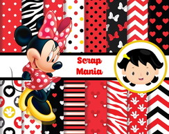 Papel Digital - Minnie Vermelha 01