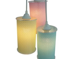 Lustre Pendente Triplo Candy Colors