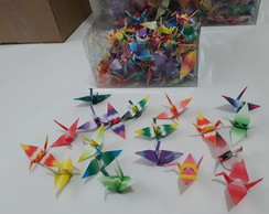 KIT 1000 Tsurus coloridos - 20 estampas - Origami