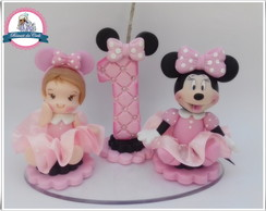 Topinho minnie rosa vela