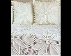 ... Kit de colcha e capa de almofada em crochê! 34c3593941