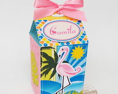 caixa flamingo tropical