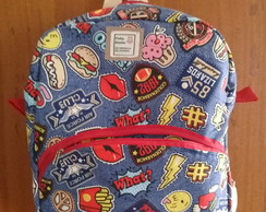 Kit Mochila Escolar Estampada + Estojo( infantil e adulto)