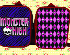 MOCHILA 20x26 PERSONALIZADA MONSTER HIGH