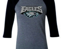 Camiseta Philadelphia Eagles Raglan 3/4 Nfl Camisa Eagles