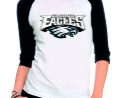 Camiseta Raglan 3/4 Philadelphia Eagles Nfl Camisa Eagles