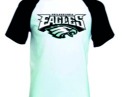 Camiseta Raglan Manga Curta Philadelphia Eagles Nfl