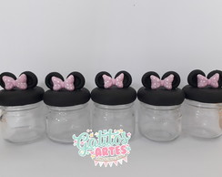 Pote de vidro Minnie e Mickey