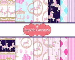 Kit Digital Scrapbook Carrossel Encantado 1
