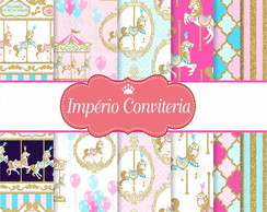 Kit Digital Scrapbook Carrossel Encantado 2