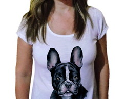 Camiseta Feminina Dog buldogue francês