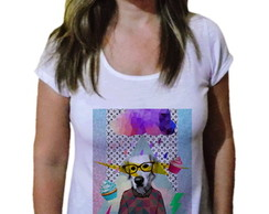 Camiseta Feminina Dog Magic Fashion
