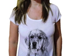 Camiseta Feminina Golden Retriever draw