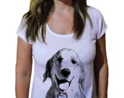 Camiseta Feminina Golden Retriever blk