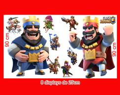 totem de chão Clash-Royale e Displays de mesa